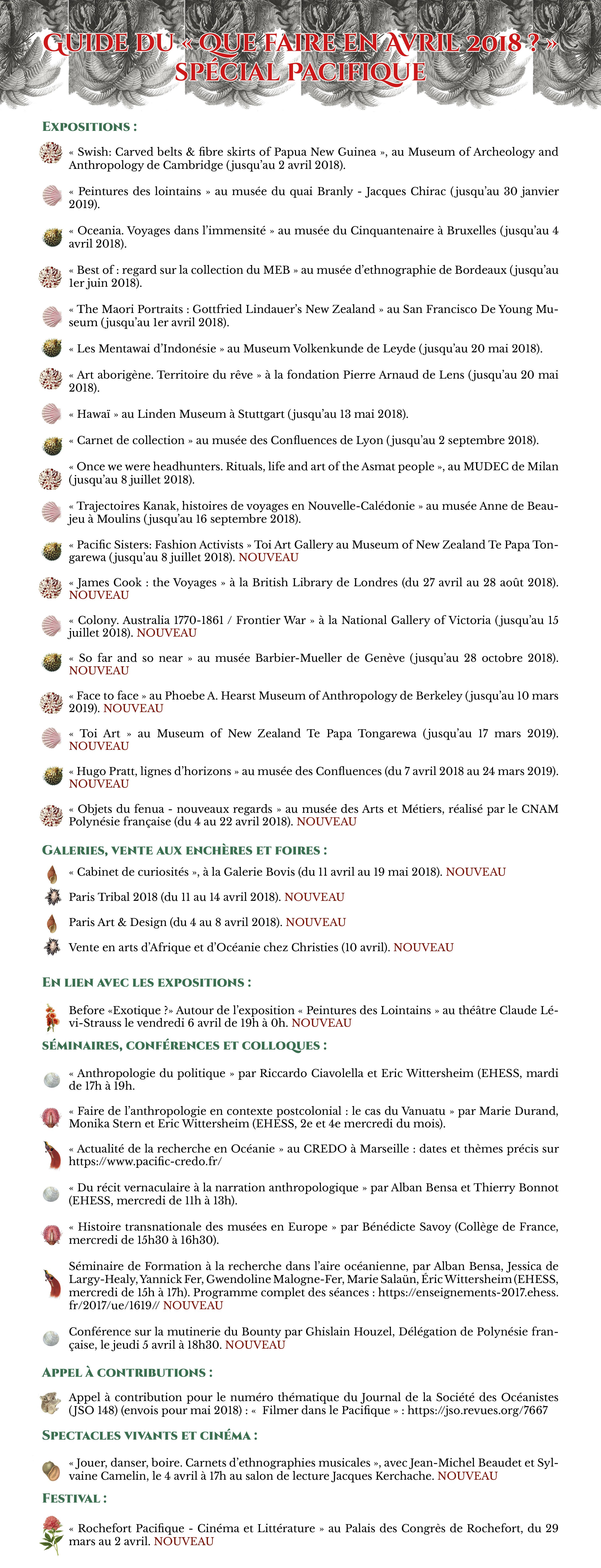 Agenda Avril 2018