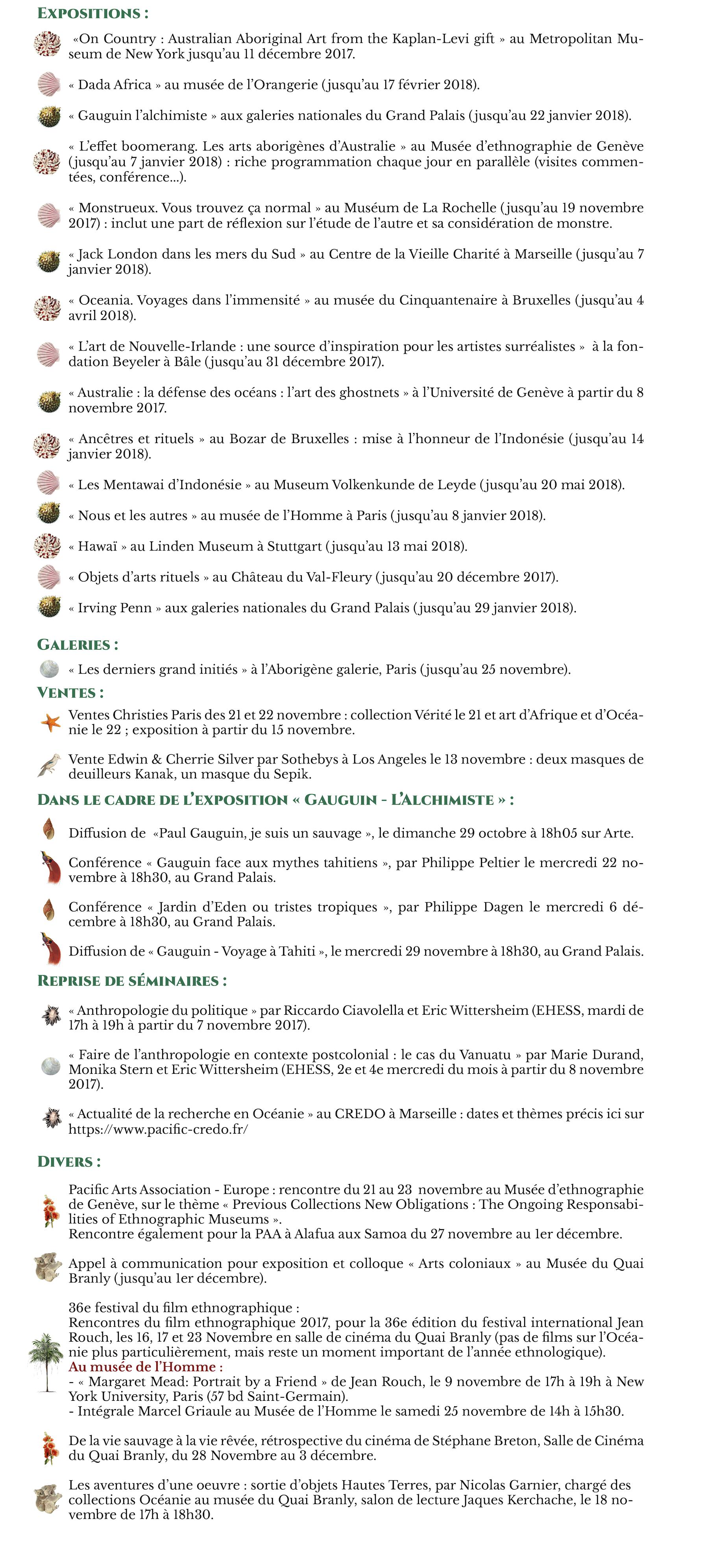 Agenda Novembre 2017 - Sans bannière