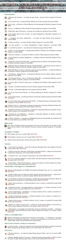 Agenda Octobre 2018
