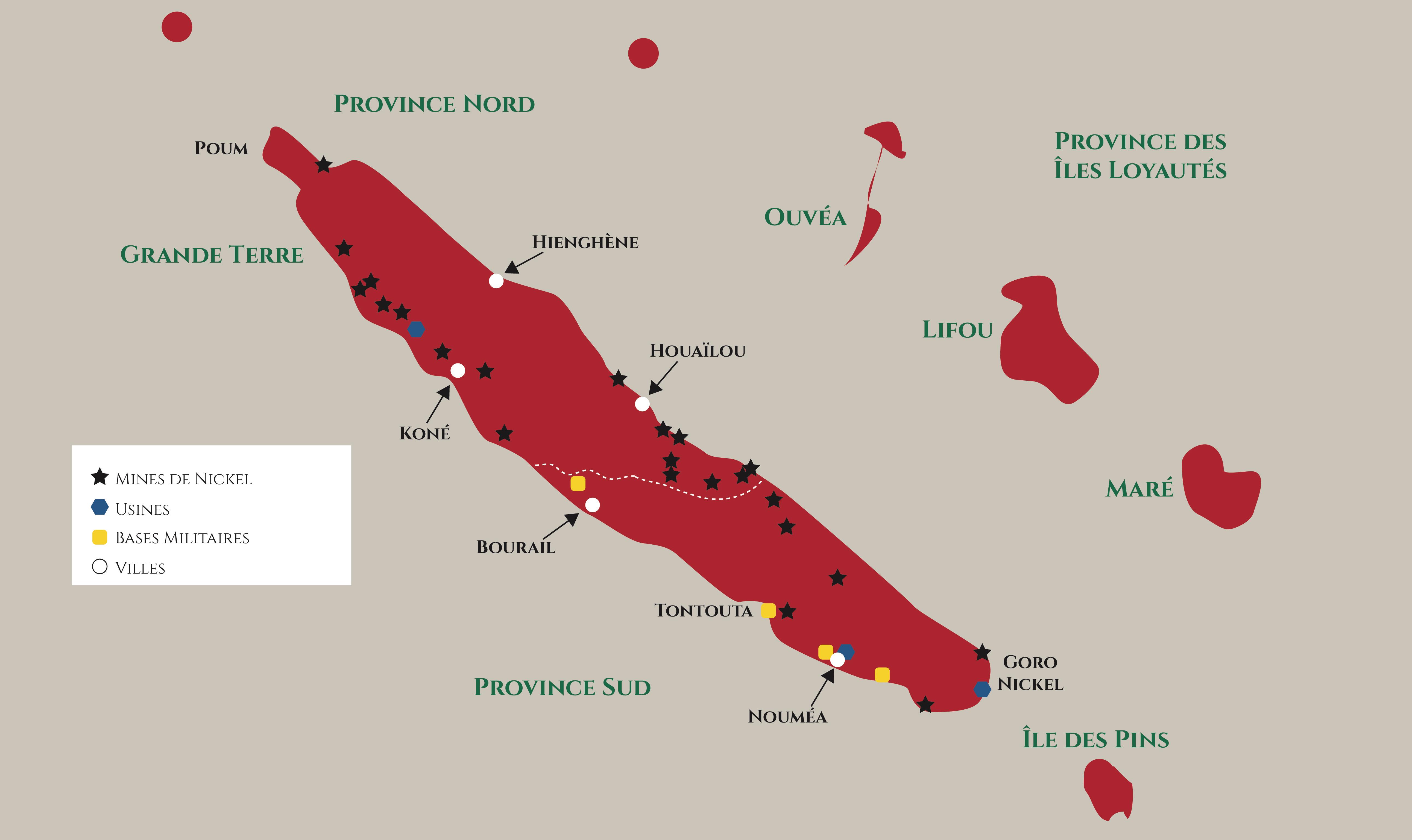 Mines de Nickel - Nouvelle-Calédonie