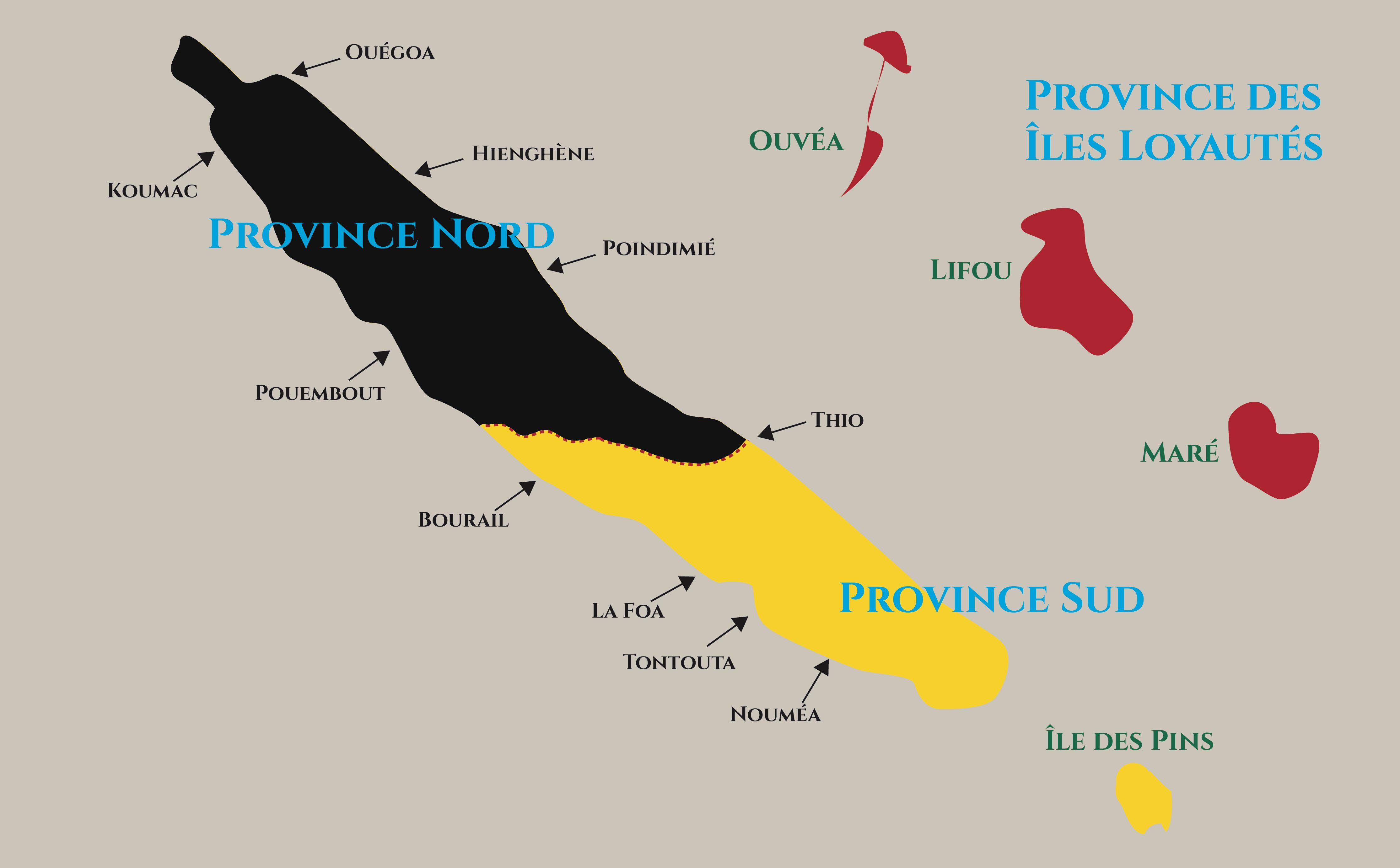 Provinces Nouvelle-Calédonie