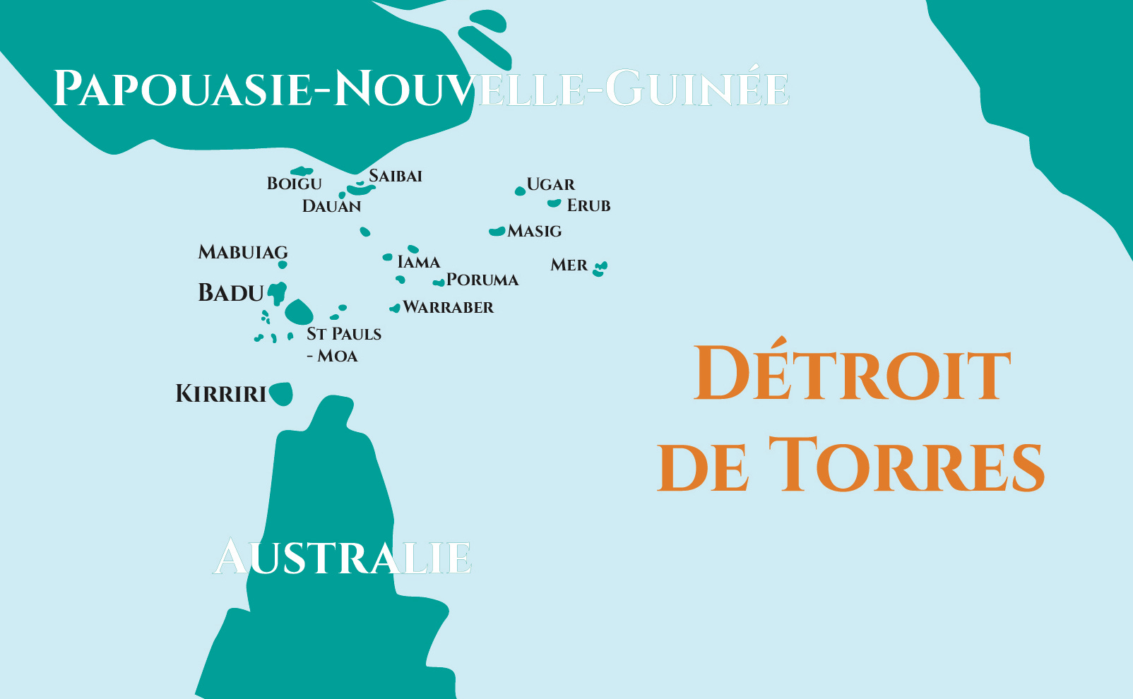 Carte Détroit de Torres