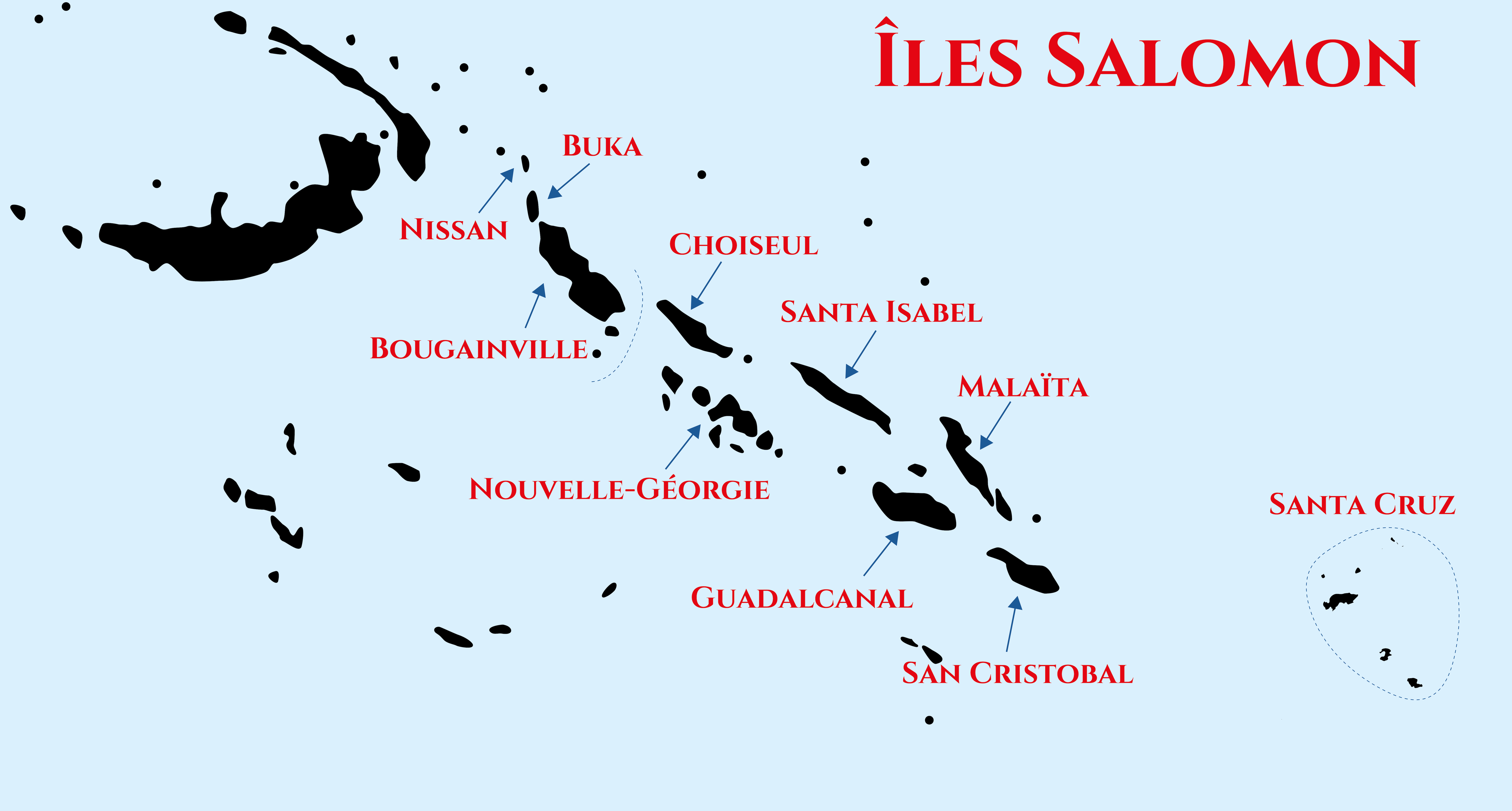 Carte îles Salomon 2