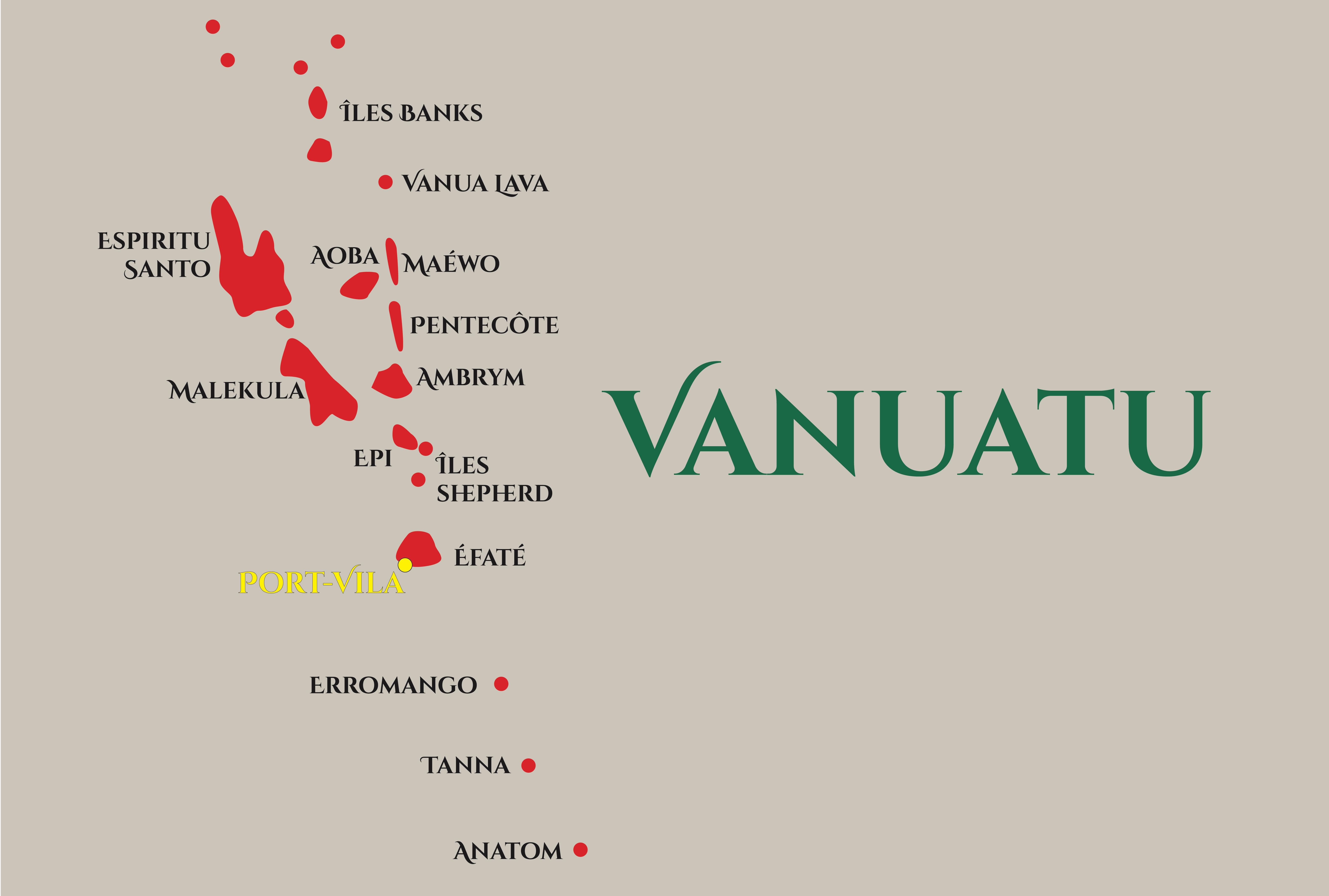 Carte Vanuatu web